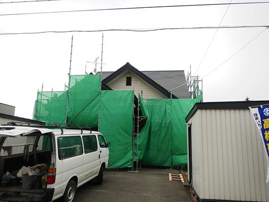 リフォーム屋根増築中2