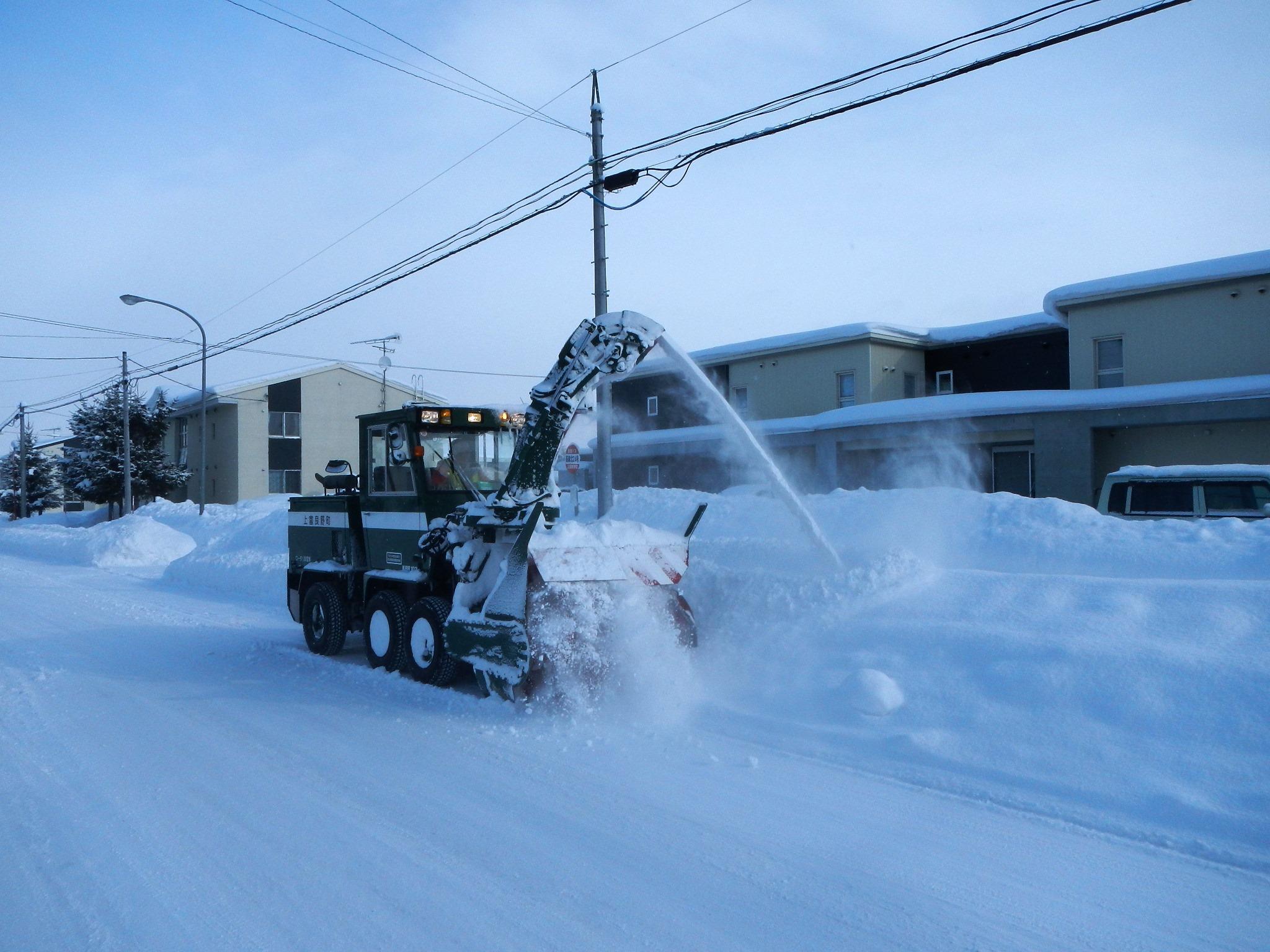 ロータリー車での除雪