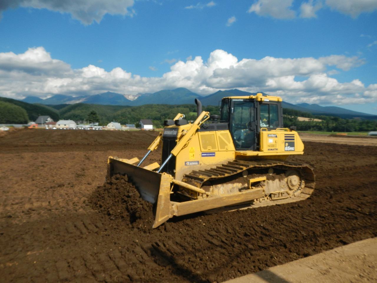 i-Constructionの建設機械を活用した区画整理工事