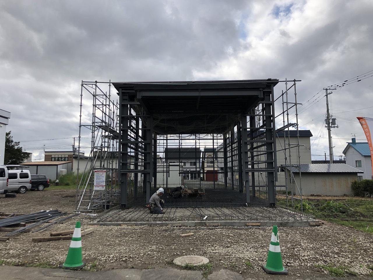 中澤自動車整備工場様「自動車車検場新築工事」進捗状況