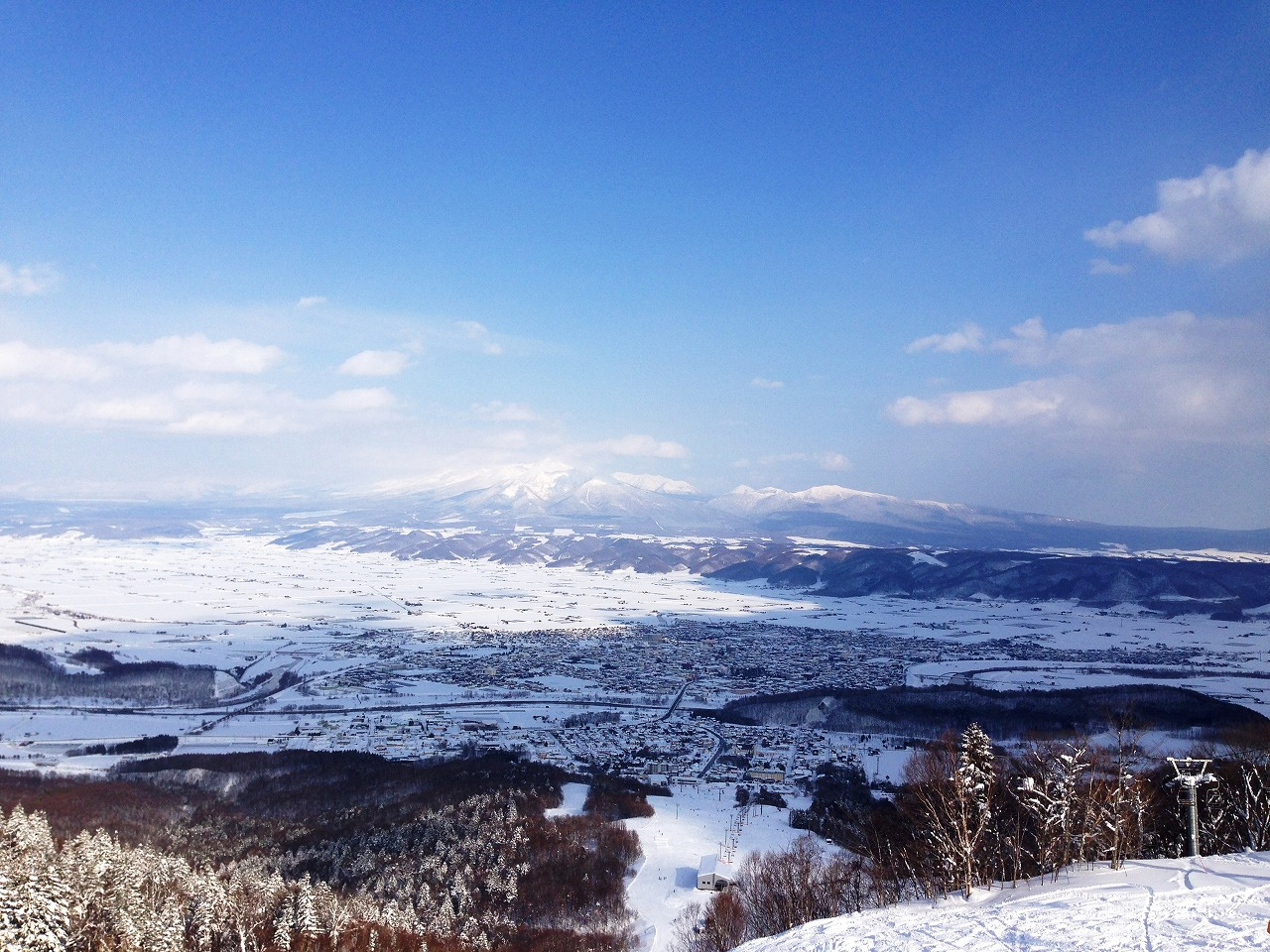 富良野スキー場山頂