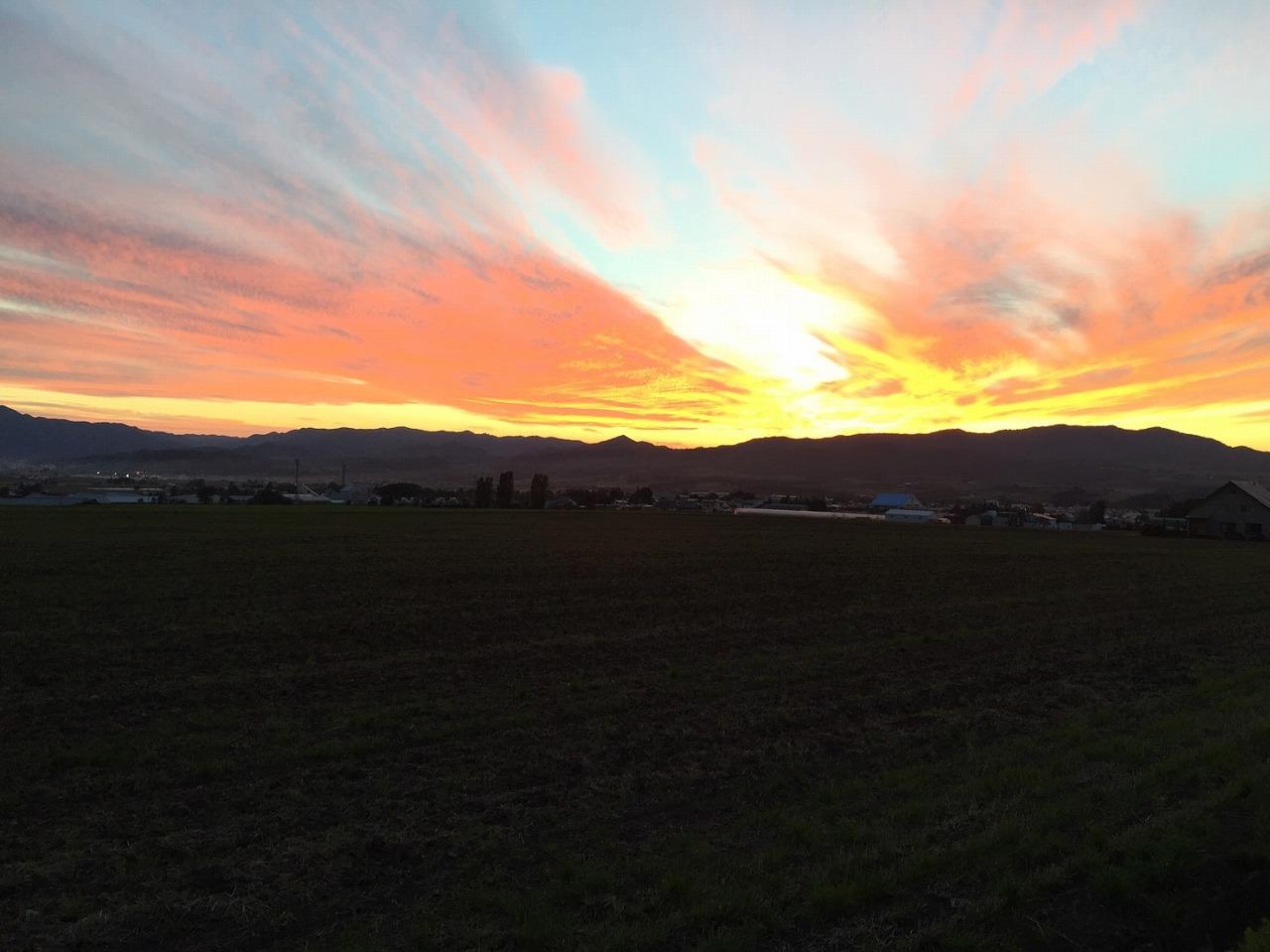上富良野町の夕焼け