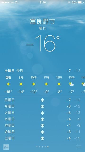 富良野市・天気